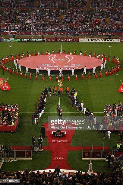 General View prior to The UEFA Champions League Final match between FC Barcelona and Manchester United at the Stadio Olimpico on May 27 2009 in Rome...