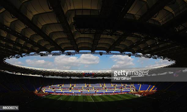 A general view prior to the UEFA Champions League Final match between Manchester United and Barcelona at the Stadio Olimpico on May 27 2009 in Rome...