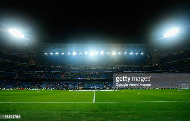 General view prior to the UEFA Champions League Group B match between Real Madrid CF and Liverpool FC at Estadio Santiago Bernabeu on November 4,...