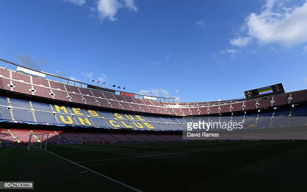 A general view prior to the UEFA Champions League Group C match between FC Barcelona and Celtic FC at Camp Nou on September 13 2016 in Barcelona Spain