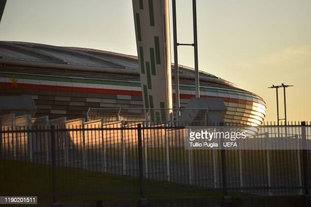 General view prior to the UEFA Champions League group D match between Juventus and Atletico Madrid at Allianz Stadium on November 26, 2019 in Turin,...