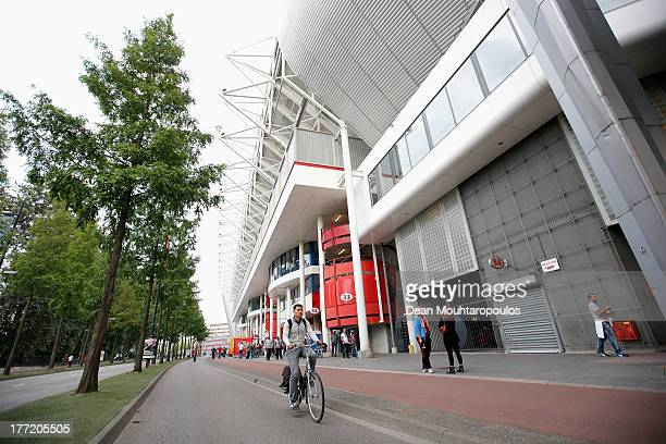 A general view prior to the UEFA Champions League Playoff First Leg match between PSV Eindhoven and AC Milan at PSV Stadion on August 20 2013 in...