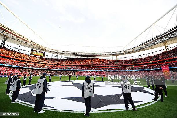 General View prior to The UEFA Champions League Semi Final Second Leg match between Arsenal and Manchester United at the Emirates Stadium on May 5,...
