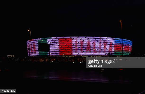 General view prior to the UEFA Euro 2016 qualifying football match between Azerbaijan and Italy at Olympic Stadium on October 10 2015 in Baku...