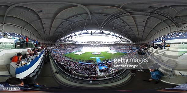 A general view prior to the UEFA EURO 2016 round of 16 match between Germany and Slovakia at Stade PierreMauroy on June 26 2016 in Lille France