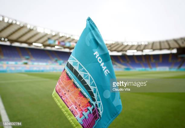 General view prior to the UEFA Euro 2020 Championship Group A match between Italy and Wales at Olimpico Stadium on June 20, 2021 in Rome, Italy.