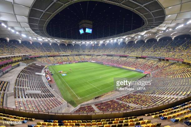 General view prior to the UEFA Euro 2020 Qualifier between Romania and Sweden at Arena Nationala on November 15, 2019 in Bucharest, Romania.