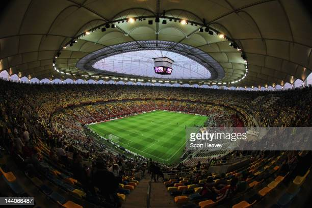General View prior to the UEFA Europa League Final between Atletico Madrid and Athletic Bilbao at the National Arena on May 9 2012 in Bucharest...