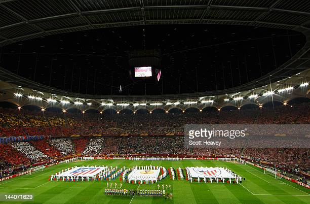 General View prior to the UEFA Europa League Final between Atletico Madrid and Athletic Bilbao at the National Arena on May 9, 2012 in Bucharest,...