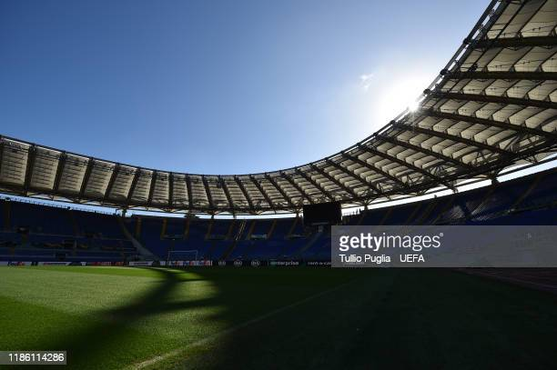 General view prior to the UEFA Europa League group E match between Lazio Roma and Celtic FC at Stadio Olimpico on November 07, 2019 in Rome, Italy.