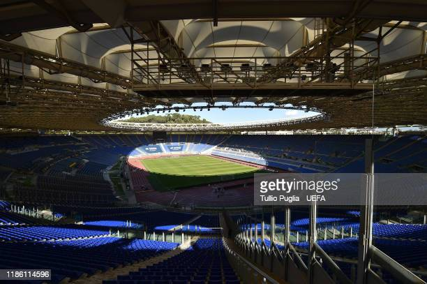 A general view prior to the UEFA Europa League group E match between Lazio Roma and Celtic FC at Stadio Olimpico on November 07 2019 in Rome Italy