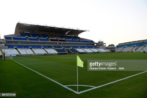 General View prior to the UEFA Europa League group E match between Apollon Limassol and Olympique Lyon at GSP Stadium on September 14, 2017 in...