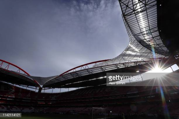 A general view prior to the UEFA Europa League Quarter Final First Leg match between Benfica and Eintracht Frankfurt at Estadio do Sport Lisboa e...