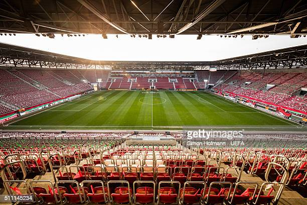 A general view prior to the UEFA Europa League Round of 32 first leg match between FC Augsburg and FC Liverpool at WWKArena on February 18 2016 in...