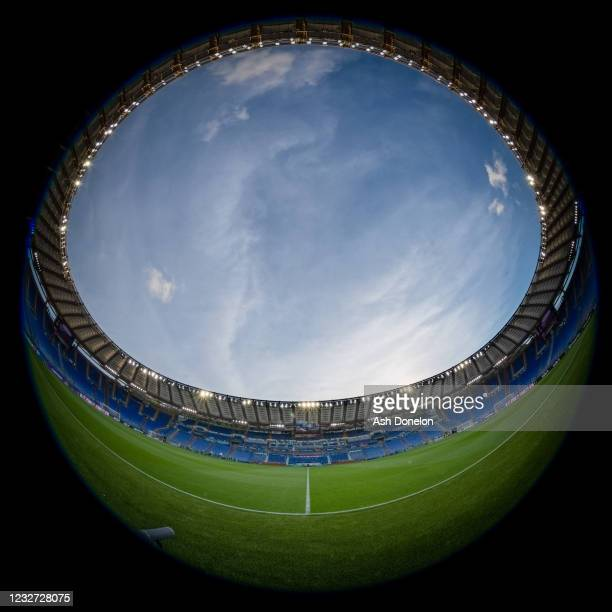 General View prior to the UEFA Europa League Semi-final Second Leg match between AS Roma and Manchester United at Stadio Olimpico on May 6, 2021 in...
