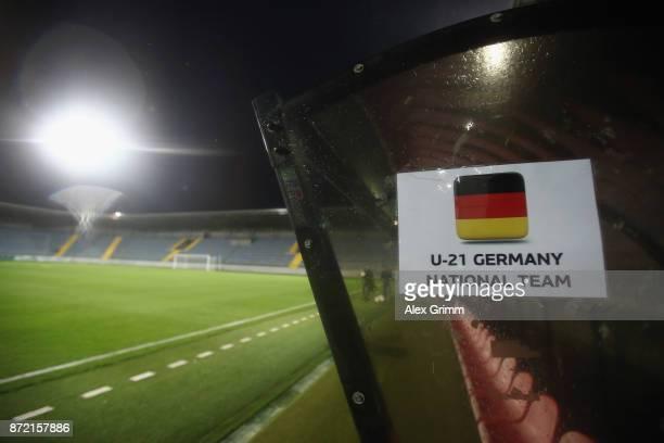 A general view prior to the UEFA Under21 Euro 2019 Qualifier match between Azerbaijan U21 and Germany U21 at Dalga Arena on November 9 2017 in Baku...