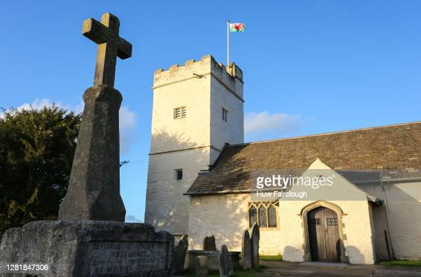 A general view Saint Sannon's Church Bedwelty on October 23 2020 in Blackwood Wales Wales will go into a national lockdown from Friday until November...