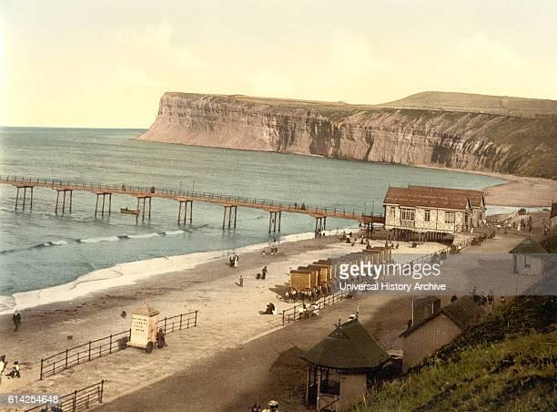 General View SaltburnbytheSea Yorkshire England Photochrome Print circa 1900