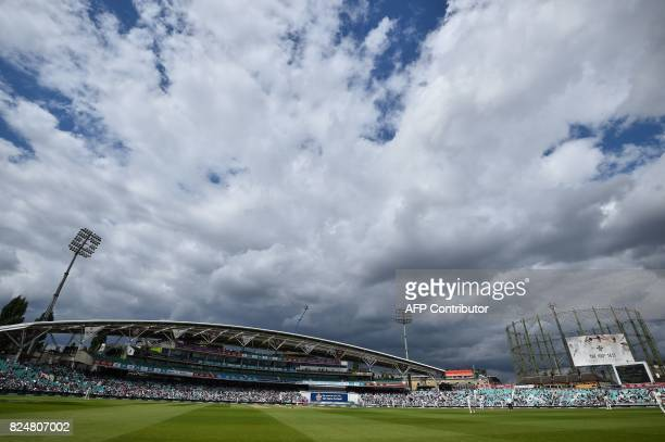 General view seen on the fifth and final day of the third Test match between England and South Africa at The Oval cricket ground in London on July...