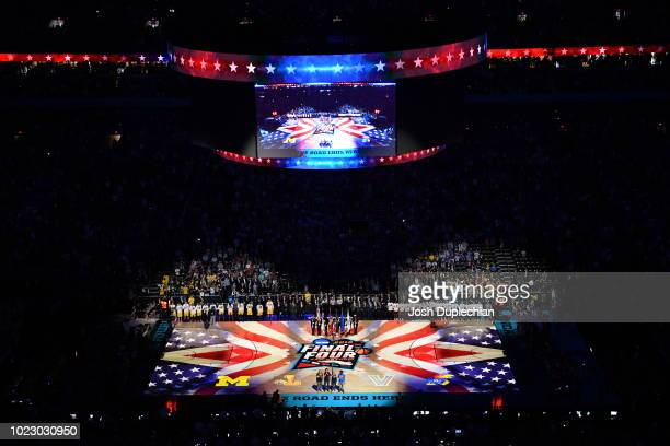 A general view shot of The 2018 NCAA Photos via Getty Images Men's Final Four semifinal game at the Alamodome on March 31 2018 in San Antonio Texas
