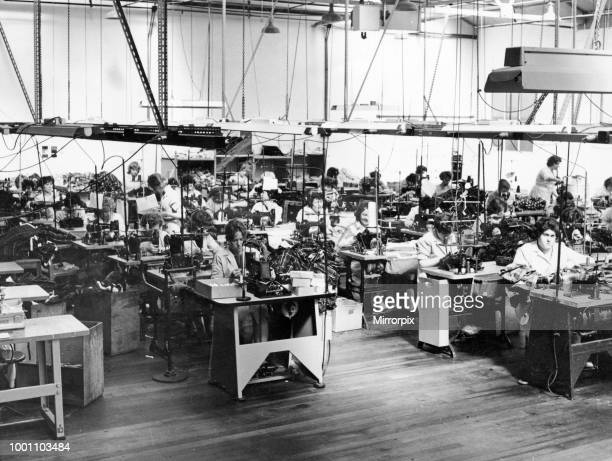 General view showing a section of the huge mashing floor of the Louis Edwards and Co textiles factory in Maesteg Bridgend Borough Wales Picture shows...