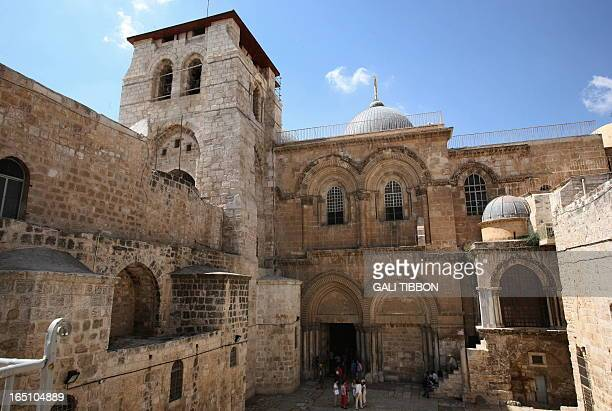 General view showing one of Christianity's holiest site, The Church of the Holy Sepulchre, also know as the Basilica of the Resurrection, for the...