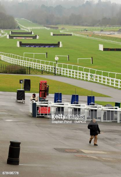 General view showing sparce crowds ahead of the action on the All Weather Track at Lingfield Park Racecourse