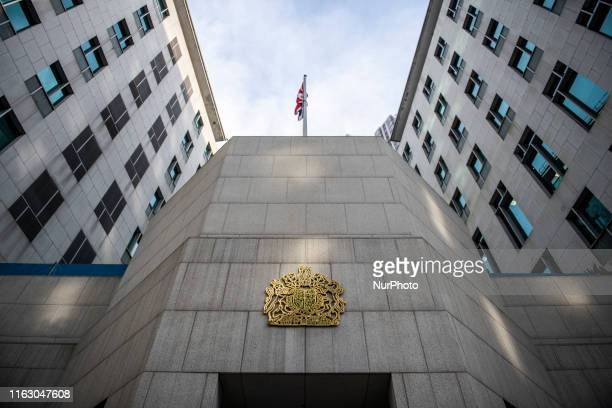 General View showing the British Consulate in Hong Kong on August 21 dozens of petitioners gather outside the British Consulate General in Hong Kong...