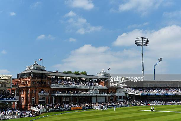 A general view showing the MCC pavilion during day four of the 2nd Investec Ashes Test match between England and Australia at Lord's Cricket Ground...