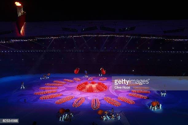A general view showing the Olympic flame during the Closing Ceremony for the Beijing 2008 Olympic Games on August 24 2008 in Beijing China