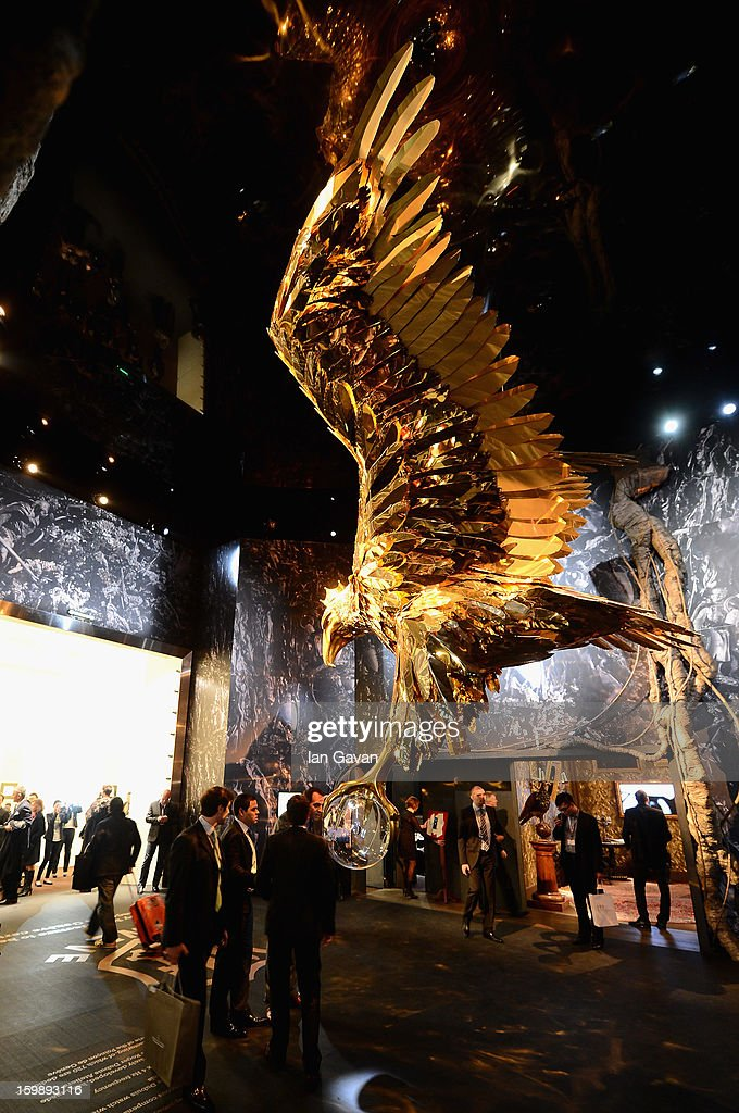 A general view showing the Roger Dubuis eagle during the 23rd Salon International de la Haute Horlogerie at the Geneva Palexpo on January 22, 2013 in Geneva, Switzerland.