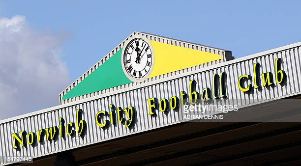 A general view showing the top of the stand at Carrow Road stadium home of Norwich City FC is pictured ahead of the game against West Bromwich Albion...