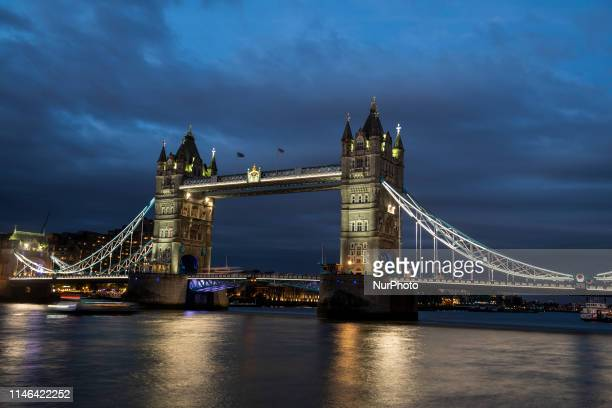 A General View Showing Tower Bridge in London United Kingdom 27 May 2019