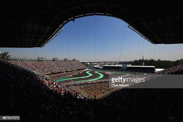 A general view showing Valtteri Bottas driving the Mercedes AMG Petronas F1 Team Mercedes F1 WO8 on track during qualifying for the Formula One Grand...