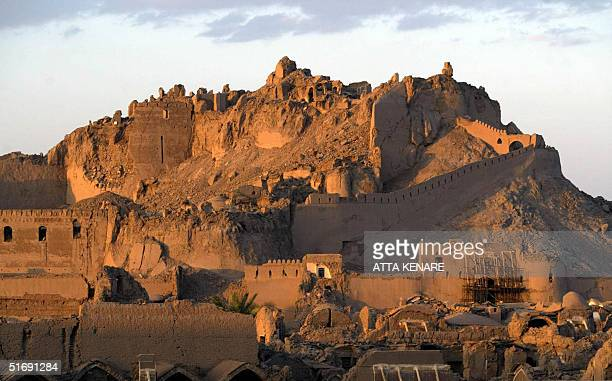 A general view shows 06 November 2004 the mudbrick citadel of the ancient silk road city of Bam one of the wonders of Iran's heritage about eleven...