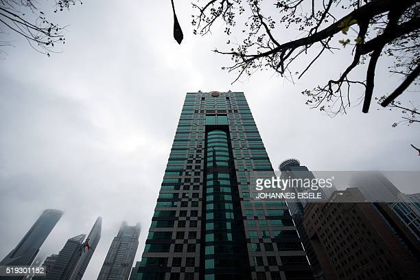 A general view shows a building where the Panamabased law firm Mossack Fonseca has an office in Shanghai on April 6 2016 The Panamanian law firm at...