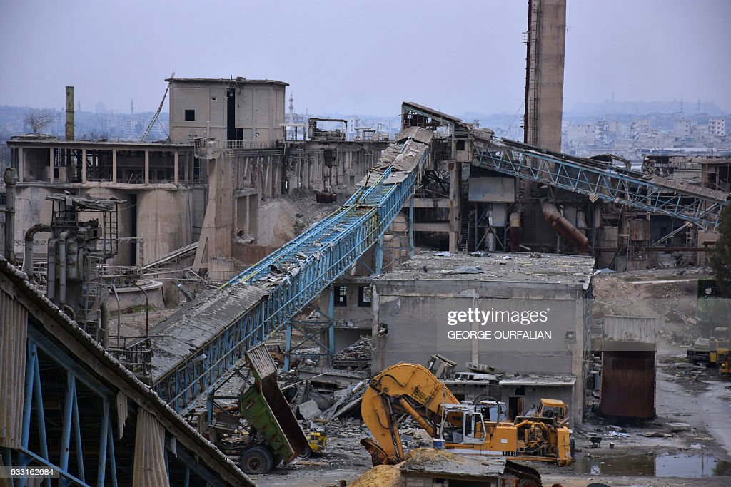 SYRIA-CONFLICT-INDUSTRY-CEMENT : News Photo