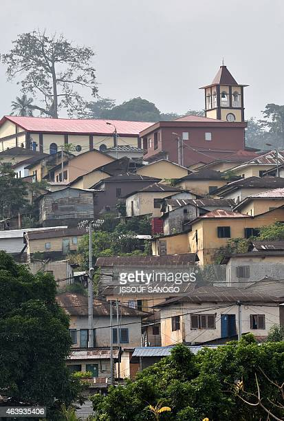 A general view shows a hillside district of the Equatorial Guinean capital of Malabo on January 30 2015 AFP PHOTO / ISSOUF SANOGO