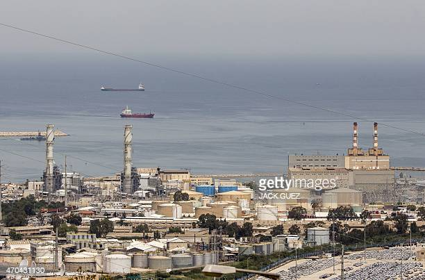 General view shows a power plant, in Israel's third city of Haifa on April 20 after the city's Mayor Yona Yahav ordered municipal rubbish trucks to...