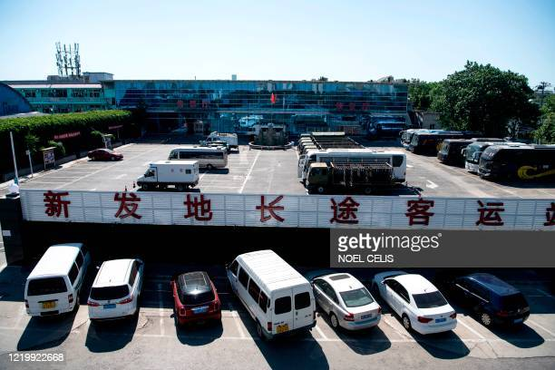A general view shows a section of the closed Xinfadi Market in Beijing on June 14 2020 The domestic COVID19 coronavirus outbreak in China had been...
