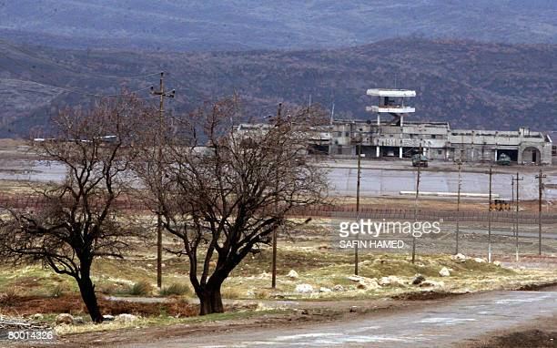 A General view shows a Turkish military base near the IraqTurkey border on February 26 2008 Iraqi Kurds inlcuding regional MPs from northern Iraq...