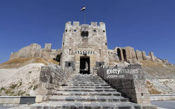 A general view shows Aleppo's historical citadel on September 4 2012 AFP PHOTO/JOSEPH EID