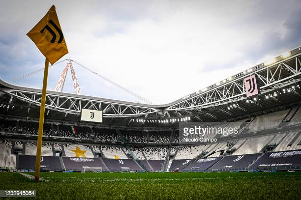 General view shows Allianz Stadium prior to the Serie A football match between Juventus FC and FC Internazionale. Juventus FC won 3-2 over FC...