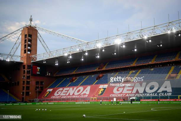 General view shows almost empty stadio Luigi Ferraris prior to the Serie A football match between Genoa CFC and Hellas Verona. Italian football...