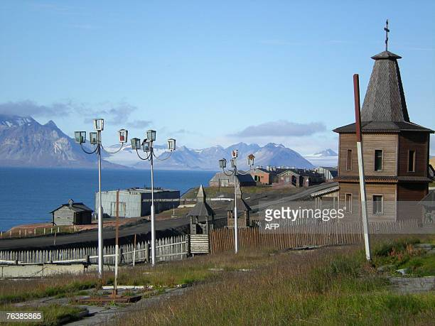 A general view shows Barentsburg in the Norwegian Arctic archipelago of Svalbard 23 August 2007 A potent reminder of the Soviet Union's bygone...