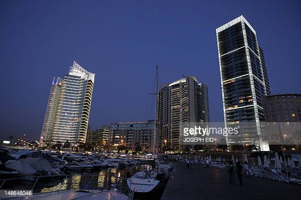 A general view shows Beirut skyline from its western waterfront side on June 21 2012 AFP PHOTO/JOSEPH EID
