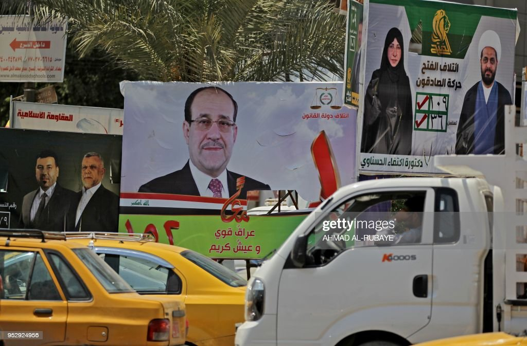 IRAQ-VOTE-CAMPAIGN : News Photo