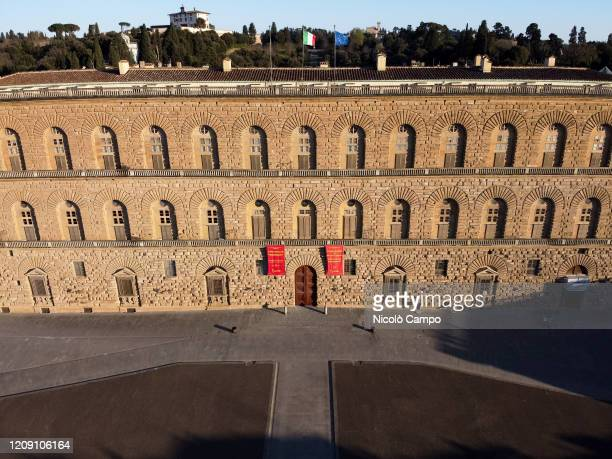 General view shows deserted Palazzo Pitti The Italian government imposed unprecedented restrictions to halt the spread of COVID19 coronavirus...