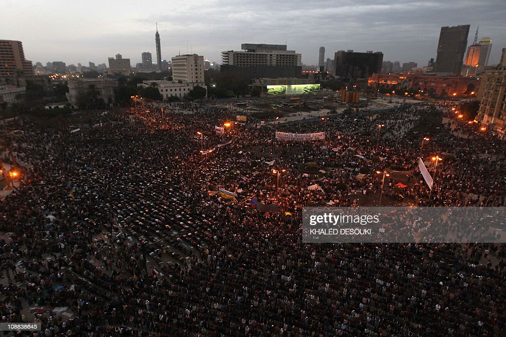 A general view shows Egyptian anti-gover : News Photo