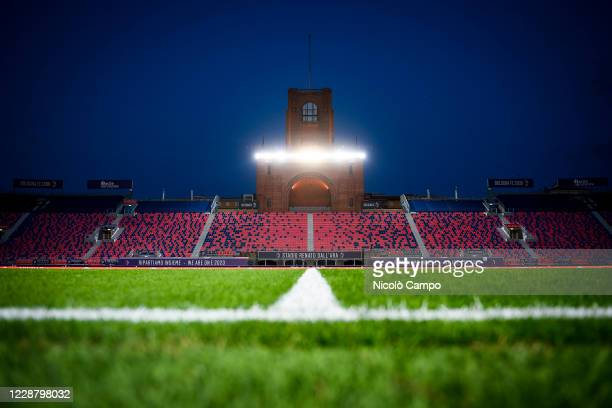 General view shows empty stadio Renato Dall'Ara prior to the Serie A football match between Bologna FC and Parma Calcio. Bologna FC won 4-1 over...